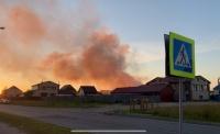 В Белоярском накануне горела баня